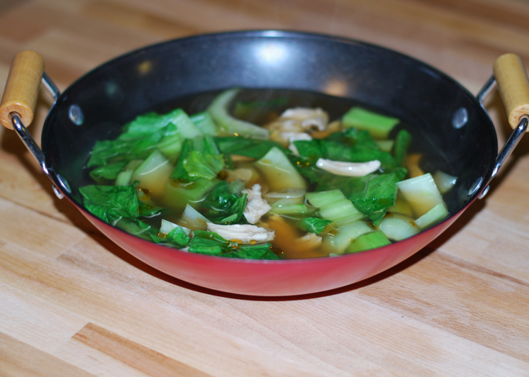Clean Eating Chicken and Bok Choy Soup ~ Living the Savory Life