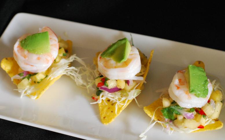 Shrimp and Pineapple Salsa Bites ~ Living the Savory Life