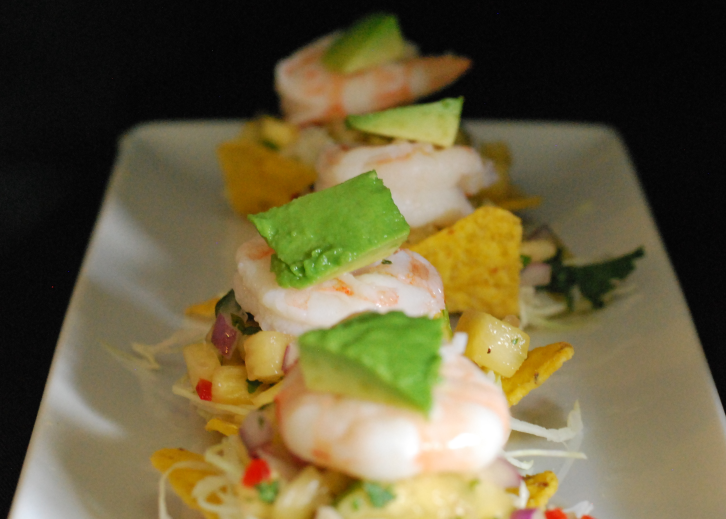 Shrimp and Pineapple Salsa Nachos ~ Living the Savory Life