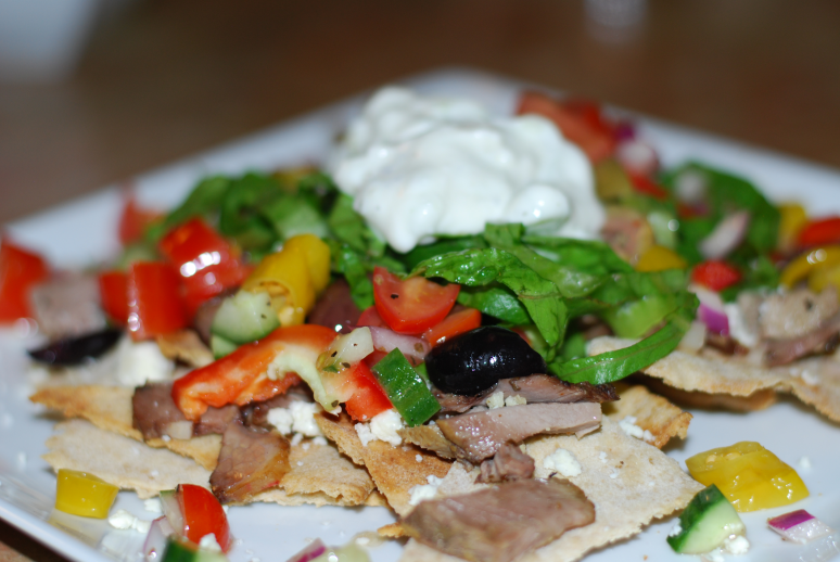 Greek Nachos ~ Living the Savory Life