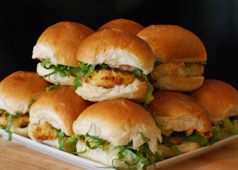 Oven Fried Chicken Sliders ~ Living the Savory Life