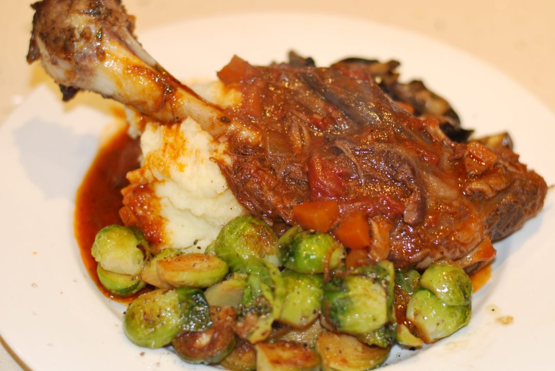 Red Wine Braised Lamb Shanks ~ Living the Savory Life