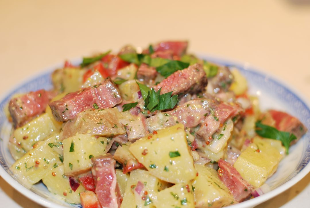 Steak and Potato Salad with Mustard Dressing ~ Living the Savory Life