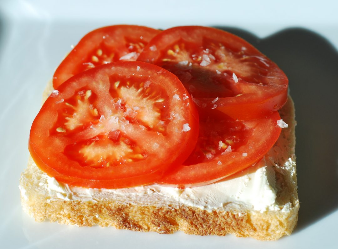 Dad and the Cream Cheese, Lettuce and Tomato ~ Living the Savory Life